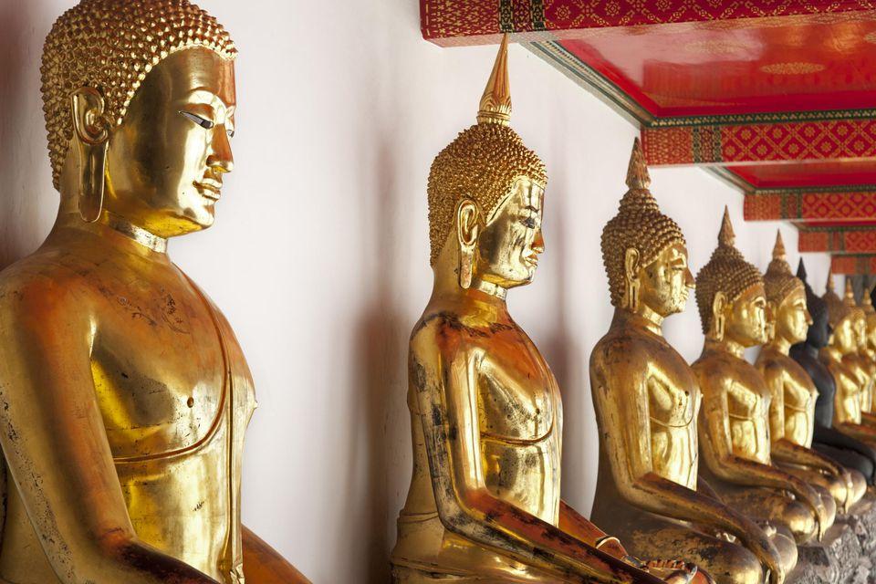 Buddhas in Wat Pho, Bangkok.
