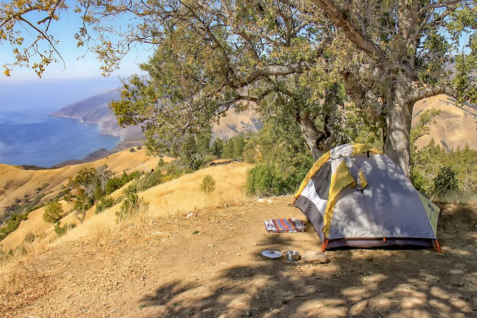 Camping in Big Sur at Prewitt Ridge