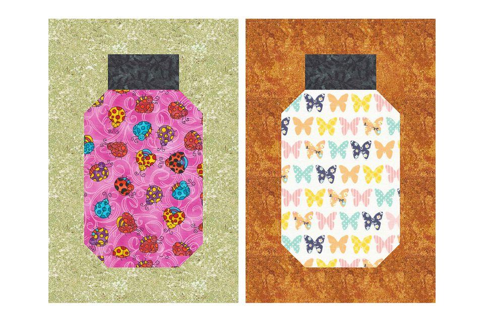 Beginner Friendly Bug Jar Quilt Block Pattern : canning jar quilt pattern - Adamdwight.com