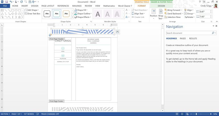 microsoft word page design