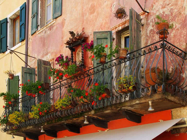 Balcony in Torri del Benaco on Lake Garda