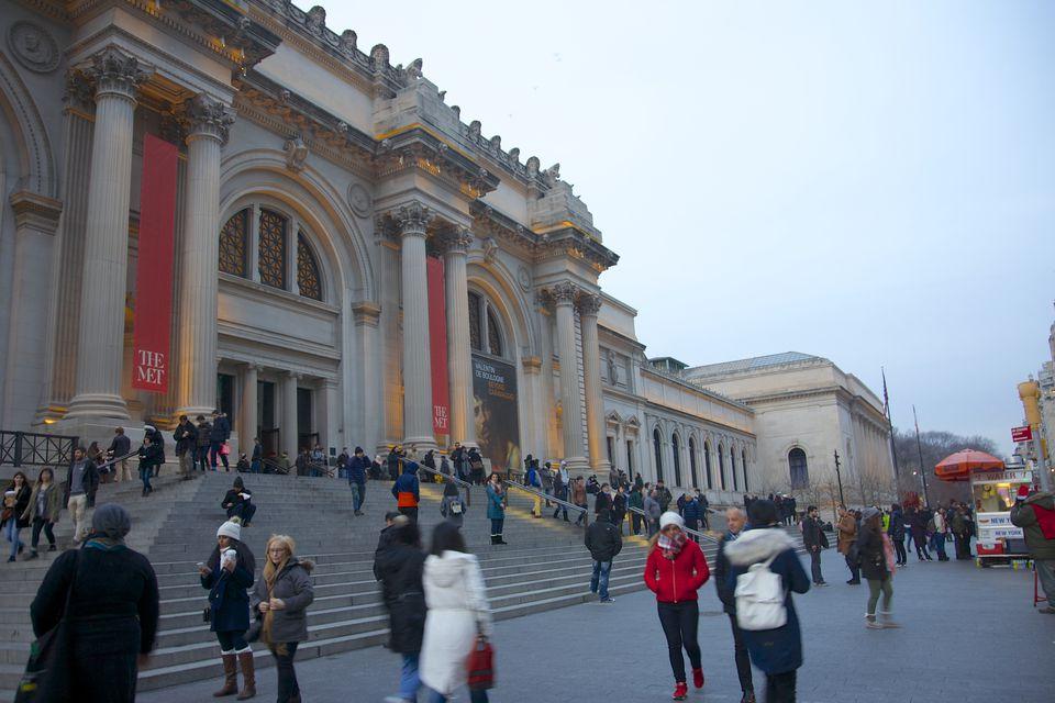 People near Metropolitan Museum of Art