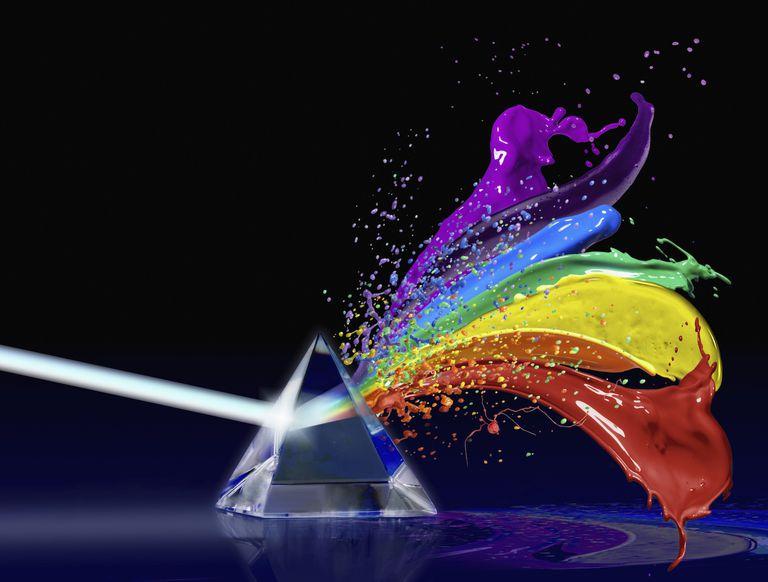 Crystal Pyramid with Rainbow