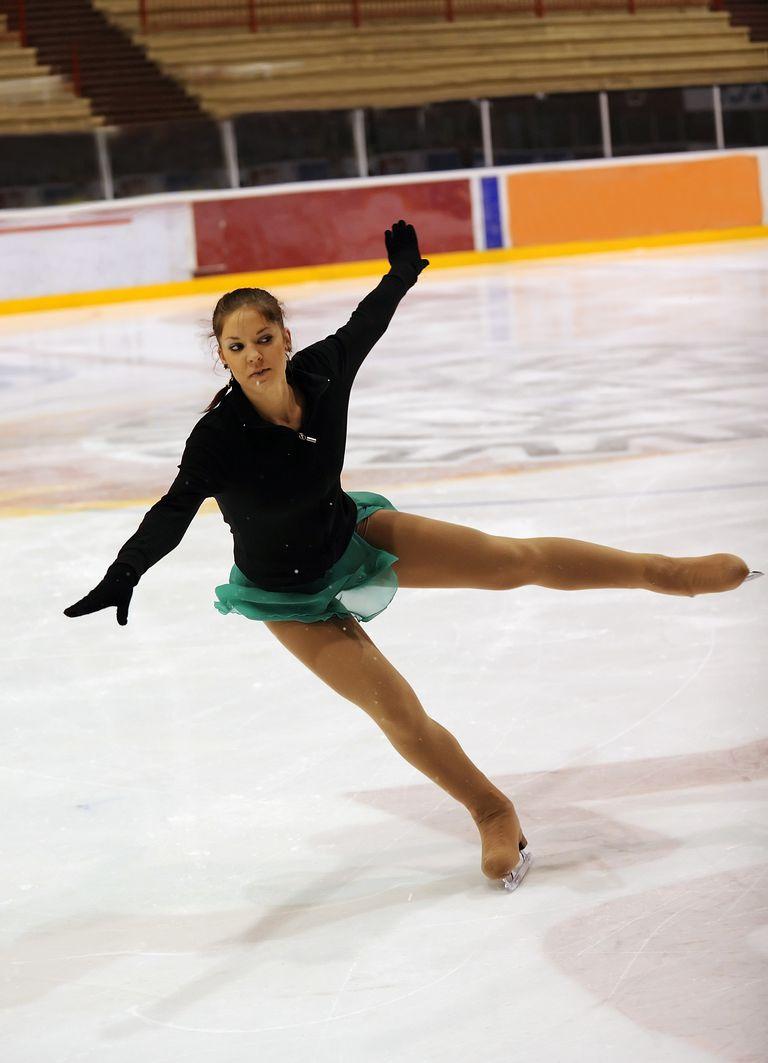 A Figure Skater Lands a Jump