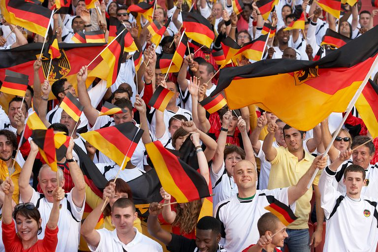 German fans cheering