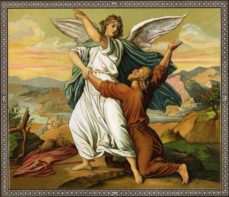 Jacobs wrestiling with the angel -