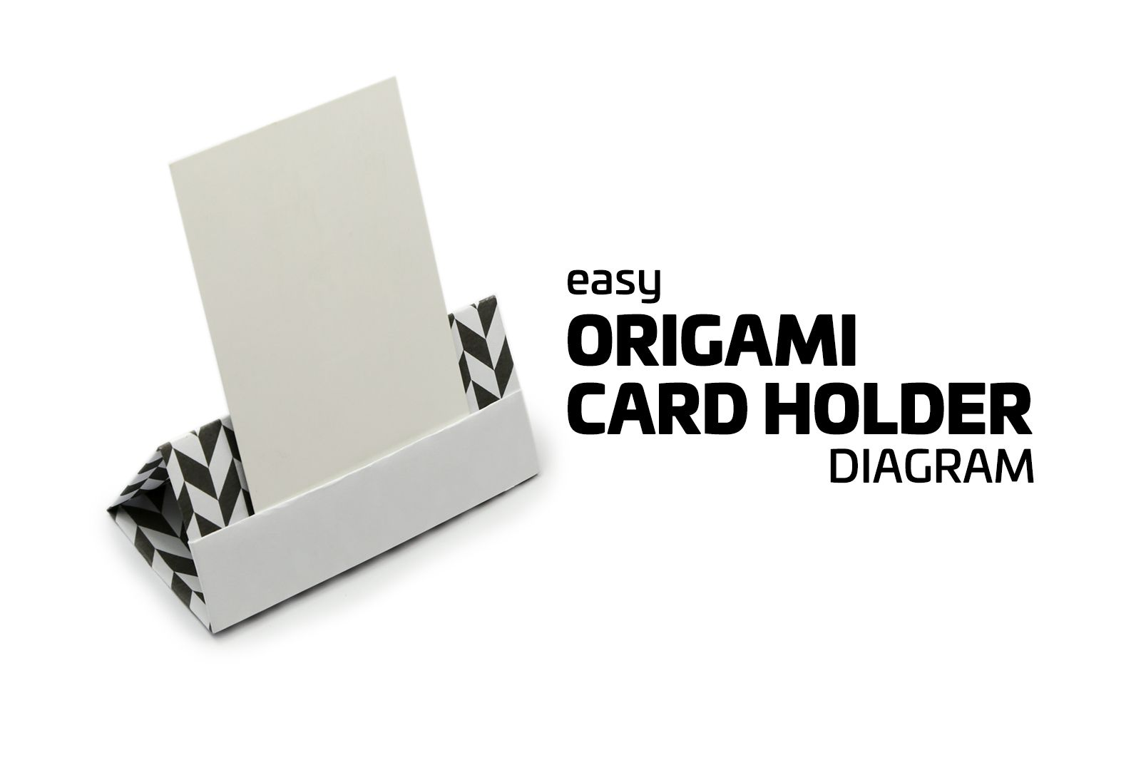 Easy origami card stand tutorial jeuxipadfo Gallery