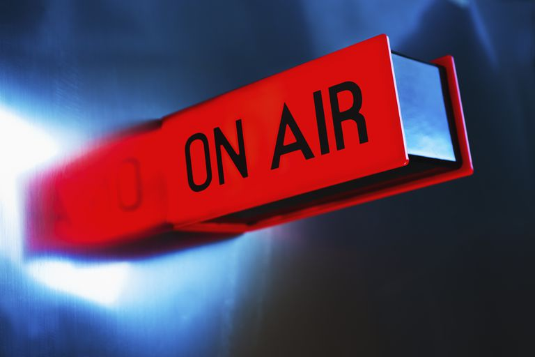 On air sign lit up
