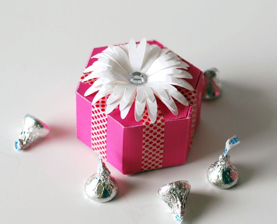 six sided favor box paper craft
