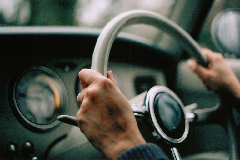 old car steering wheel