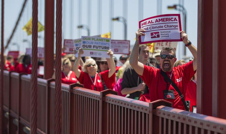 March And Rally At Golden Gate Bridge Protests Keystone XL Pipeline