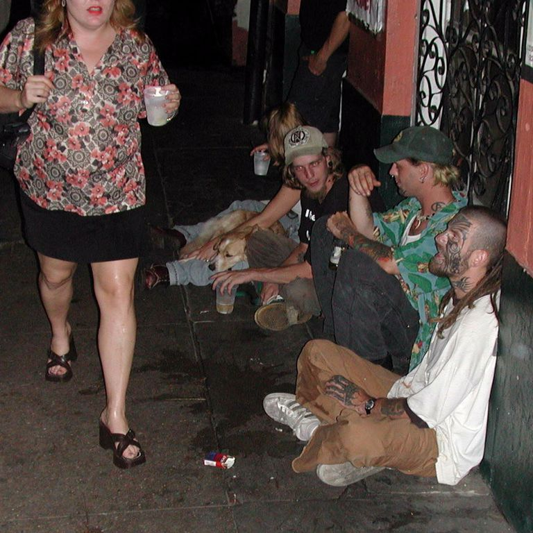 Gutter Punks, Decatur Street, New Orleans, Louisiana, May 2002
