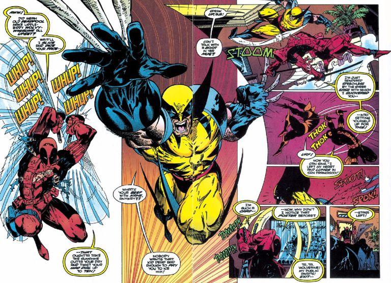 Deadpool vs Wolverine by Adam Kubert, Fabio Laguna, Mark Farmer, Tim Townsend, and Marie Javins