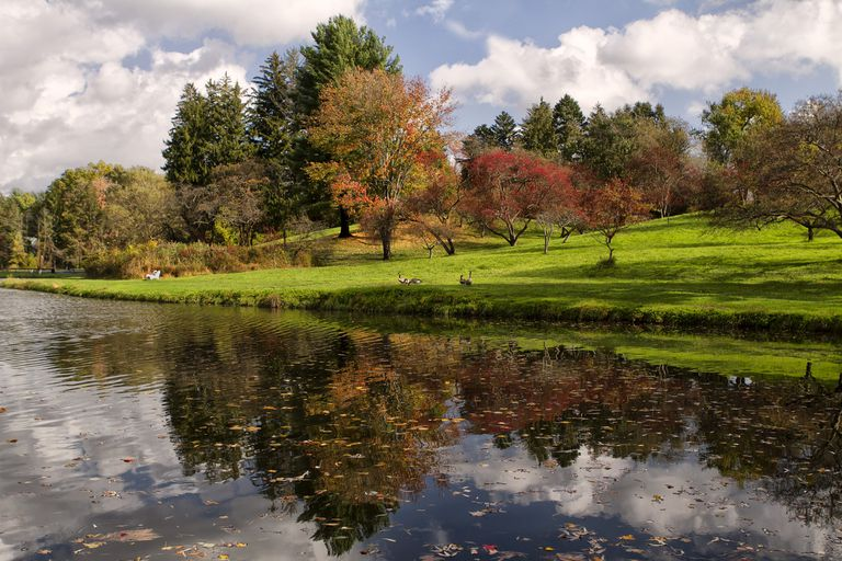 Wilderness and civilization combine at Vassar College in Poughkeepsie, New York