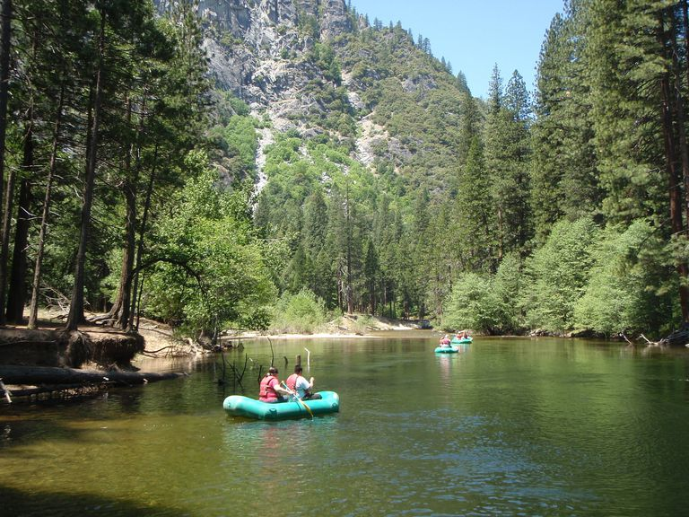 A raft trip in Yosemite National Park