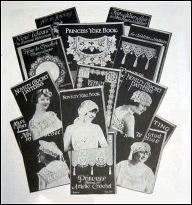 Vintage Crochet Pattern Books Published by Novelty Art Studios Prior to 1915.