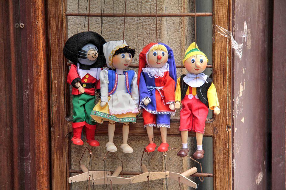 Shop selling Marionettes at Prague Lesser Town, Central Bohemia, Czech Republic