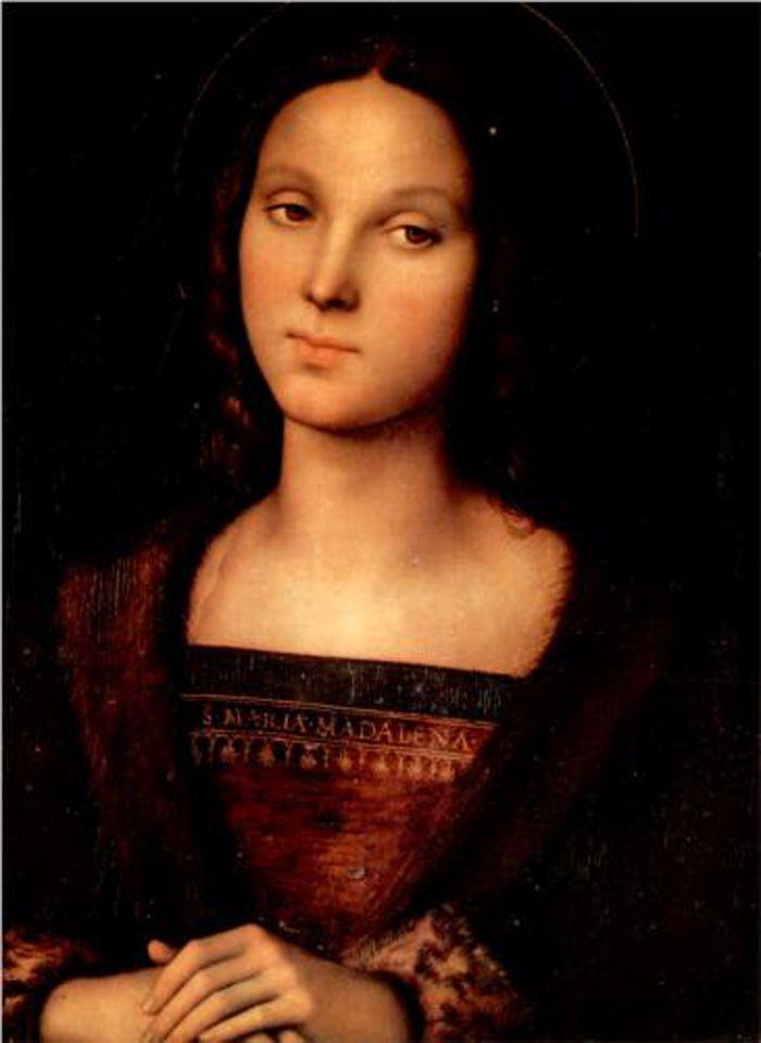 Santa María Magdalena por Pietro Perugino. Óleo sobre panel, 47 x 34 cm, 1500. Galleria Palatina (Palazzo Pitti), Florencia, Italia.