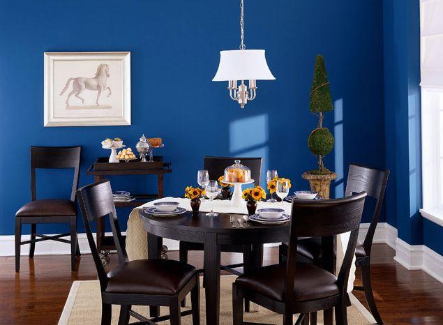 deep blue dining room. Elegant  Brilliant Dining Room Colors