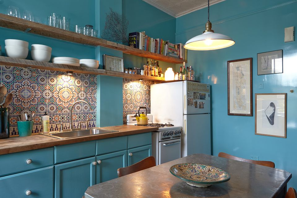 Colour in the Kitchen - Turquoise Kitchen - Adelaide Outdoor Kitchens