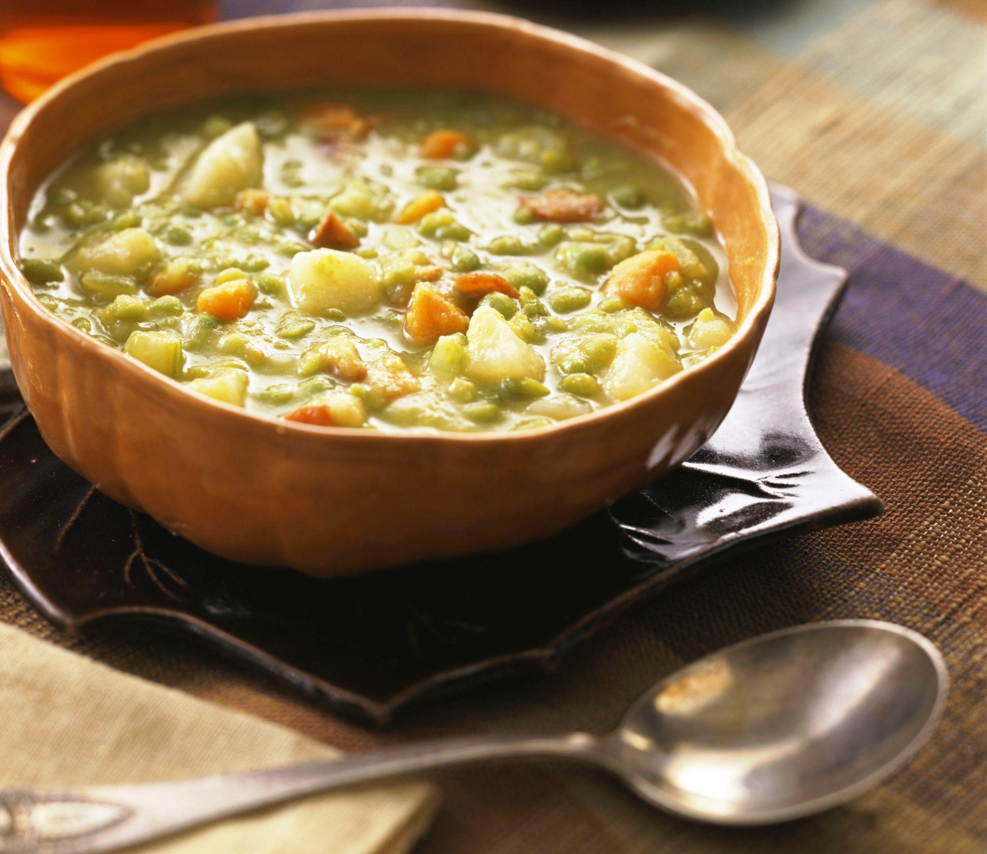 Vegetarian Fat-free Crock Pot Split Pea Soup Recipe