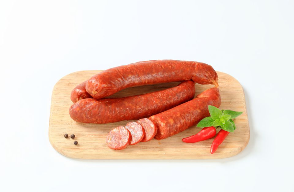 red hot beef sausage