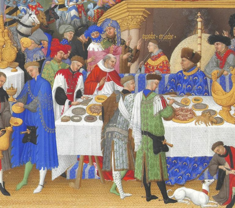 A medieval Christmas or Twelfth Night celebration
