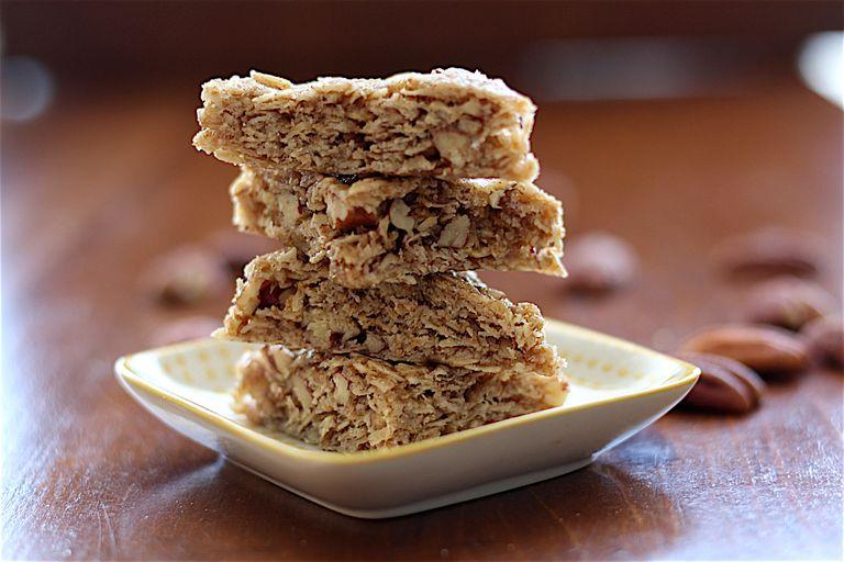 brown pecan oat triangles