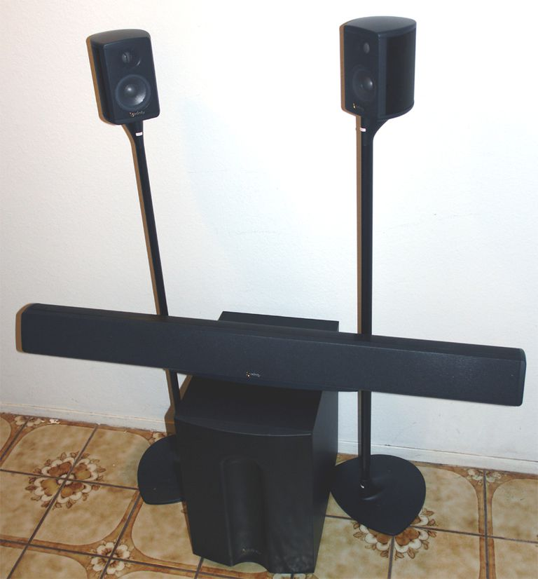 Infinity TSS 5.1 Channel Speaker System Using The 3-in-1, 2 SAT750s, and SUB750