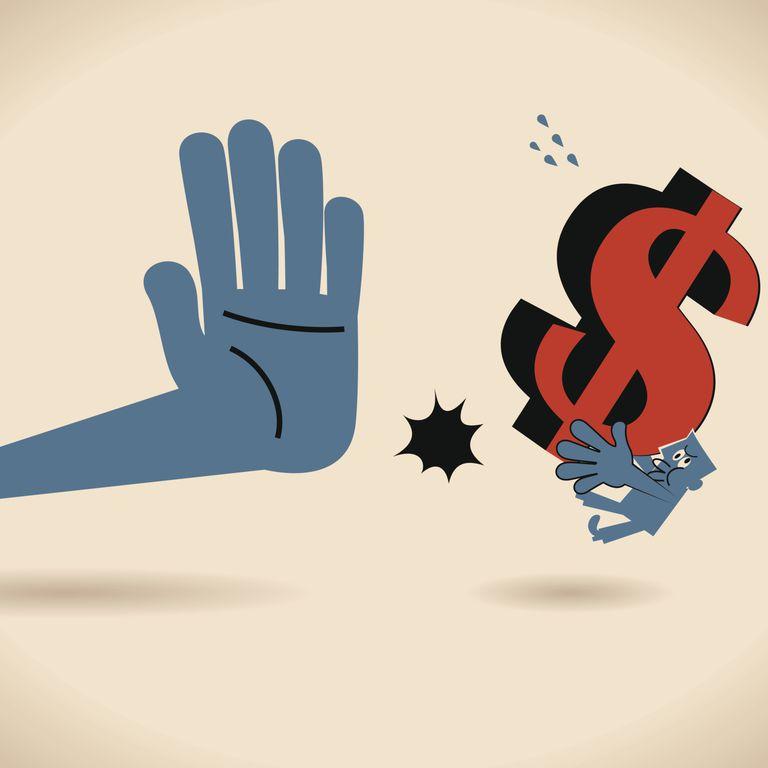 Heisman Hand Stopping Money