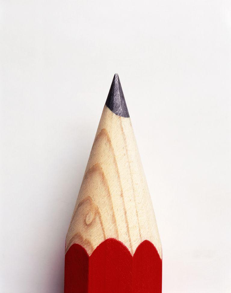 Sharpened lead pencil, detail