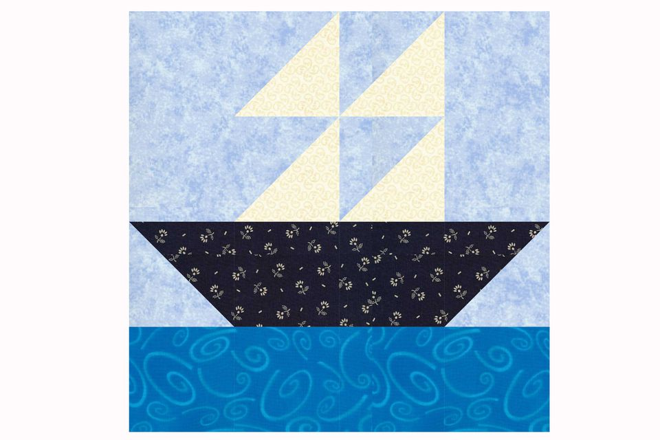 Sailboat Quilt Block Pattern in Two Sizes : sailboat quilt pattern - Adamdwight.com