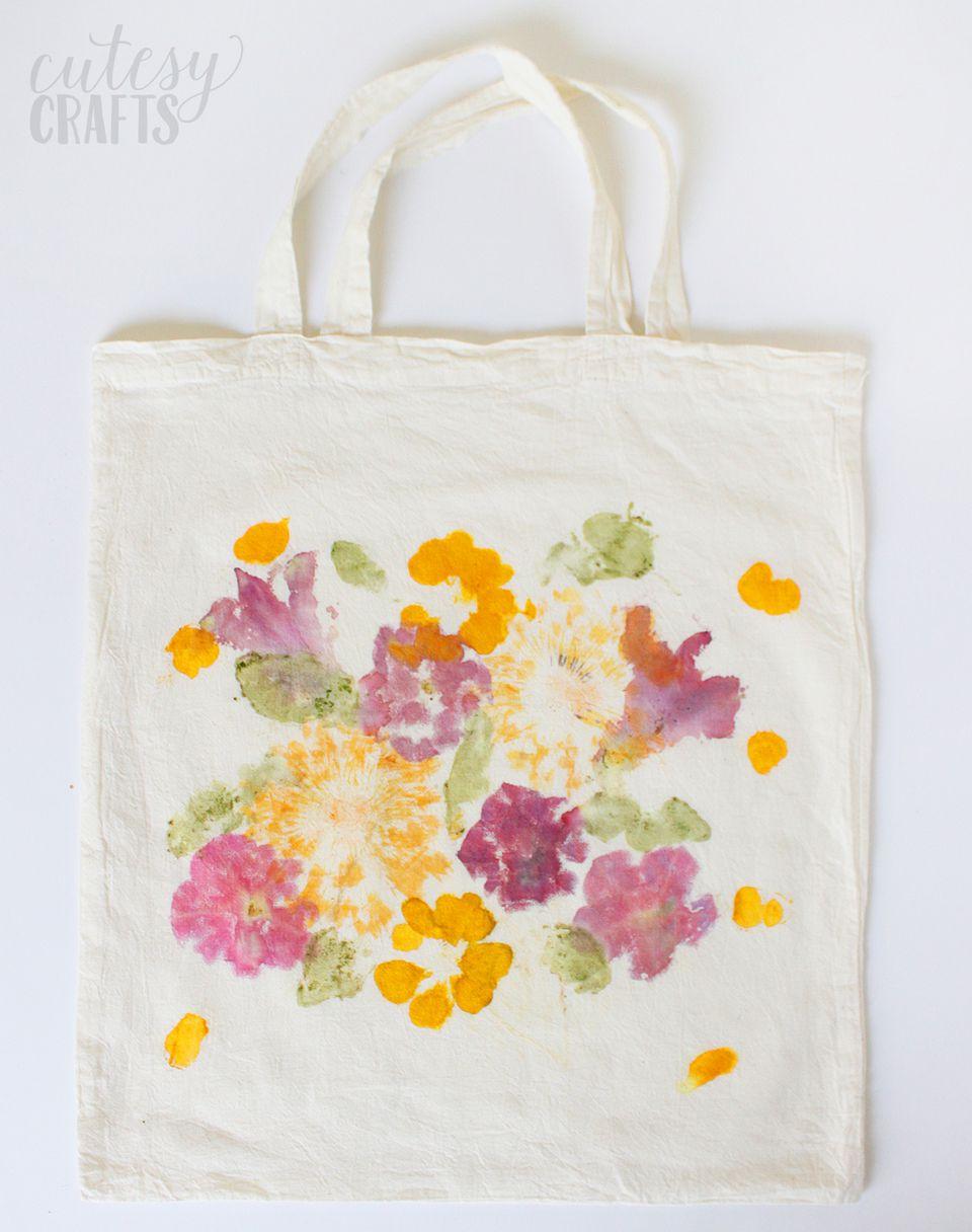 flower tote bag diy