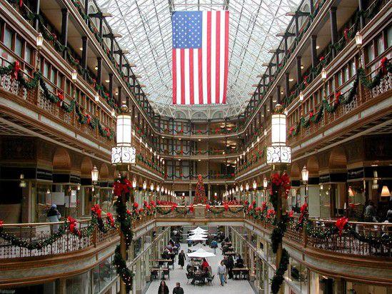 The Arcade at Christmas - Cleveland Ohio