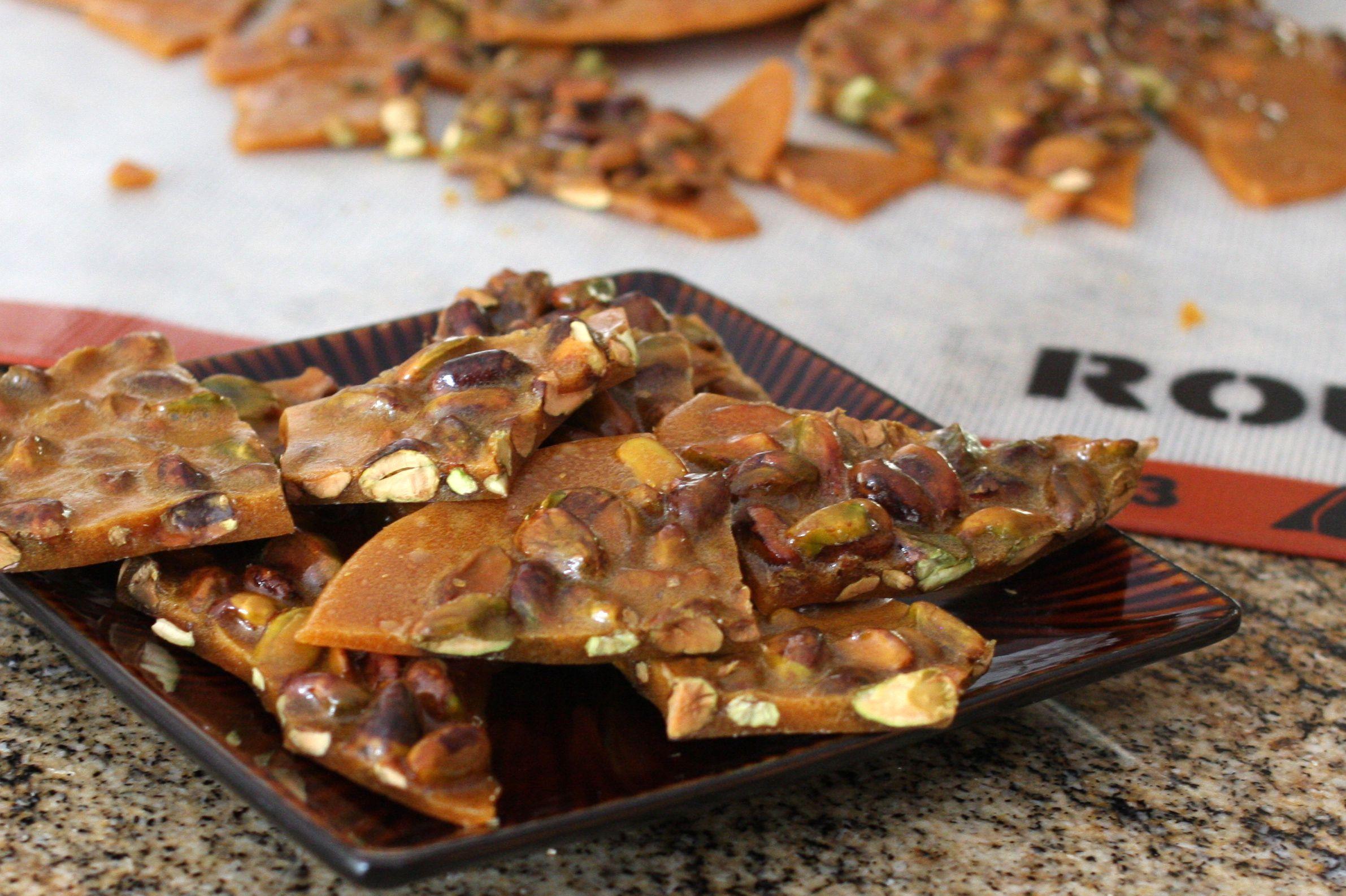 Crunchy Pistachio Brittle Recipe