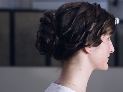 Messy updos the top casual prom hairstyles how to create a loose curly bun updo for prom pmusecretfo Images