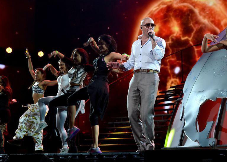 Pitbull at the 2014 American Music Awards