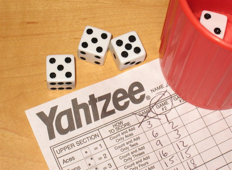 Yahtzee game and dice