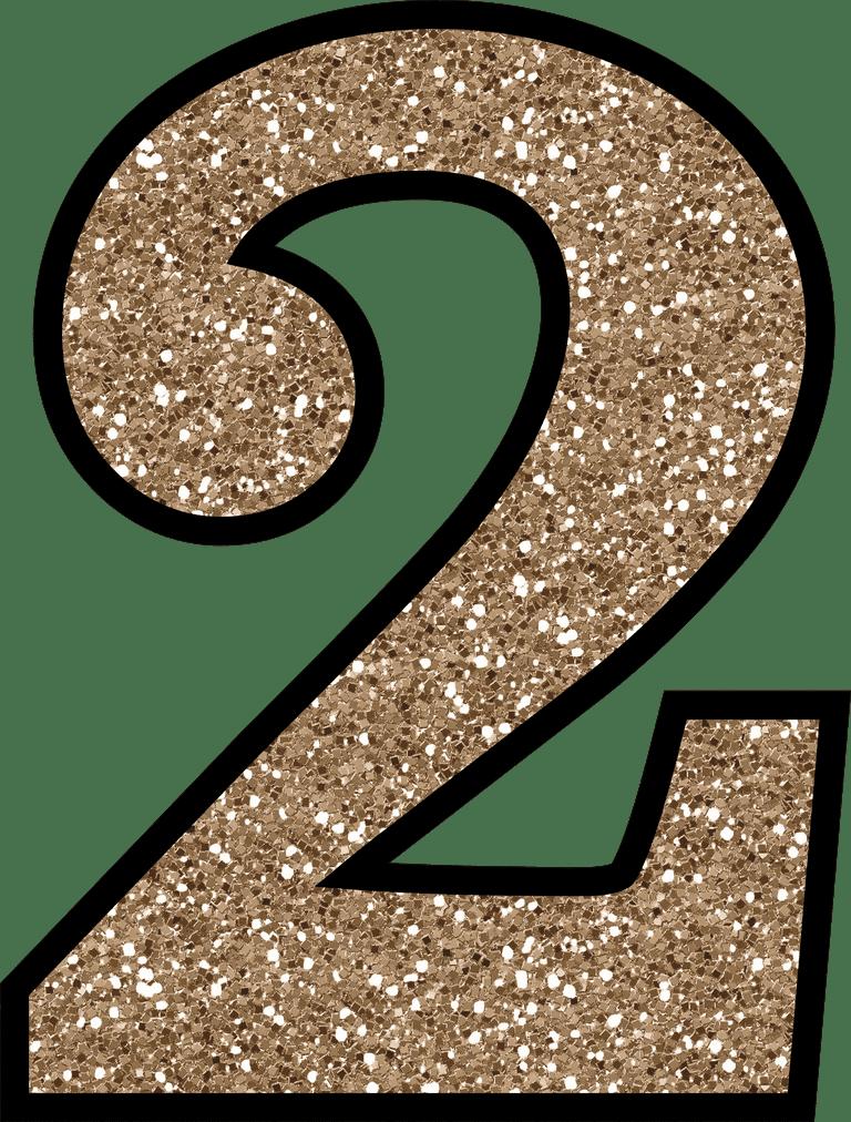2 Glitter Numbers 0 - 9 Free Printable Numbers