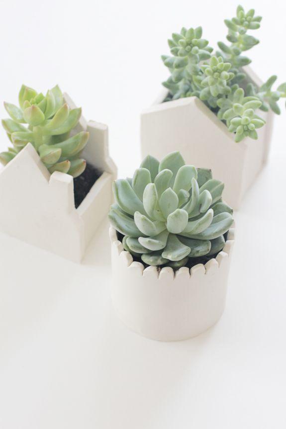 DIY Clay House Pot