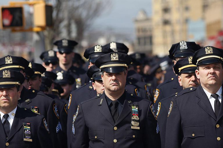 Funeral Held For NYPD Officer Injured While Investigating Fire in High Rise