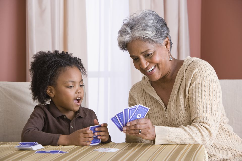 play cards with grandchildren