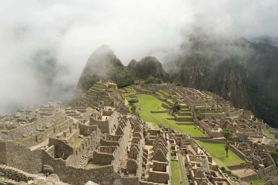 Early morning mist at Machu Picchu, Andes, Peru