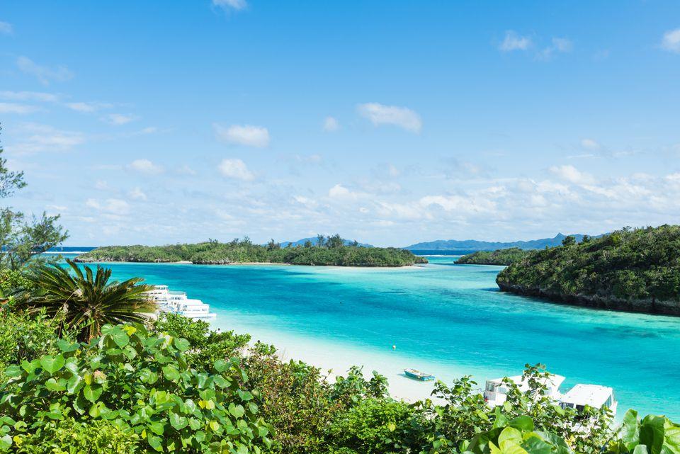 Tropical lagoon islands, Ishigaki, Japan