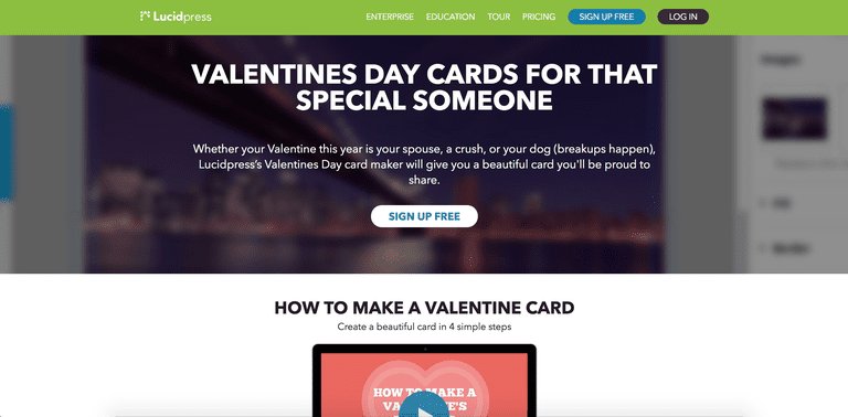 lucidpress - Electronic Valentines Day Cards