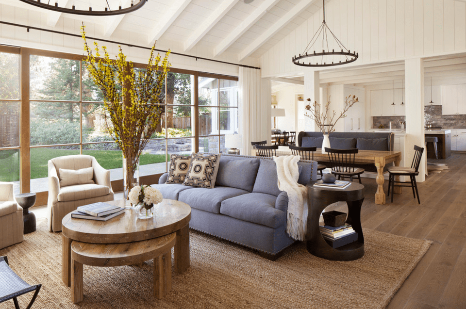 20 farmhouse style living rooms for Farmhouse style living room ideas