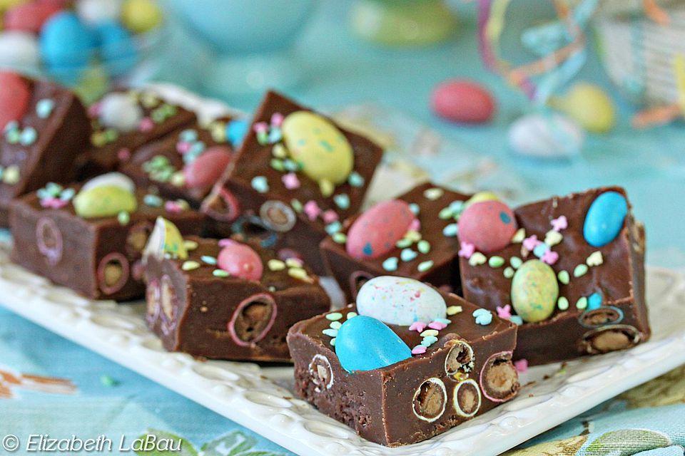 Easter Egg Malted Chocolate Fudge