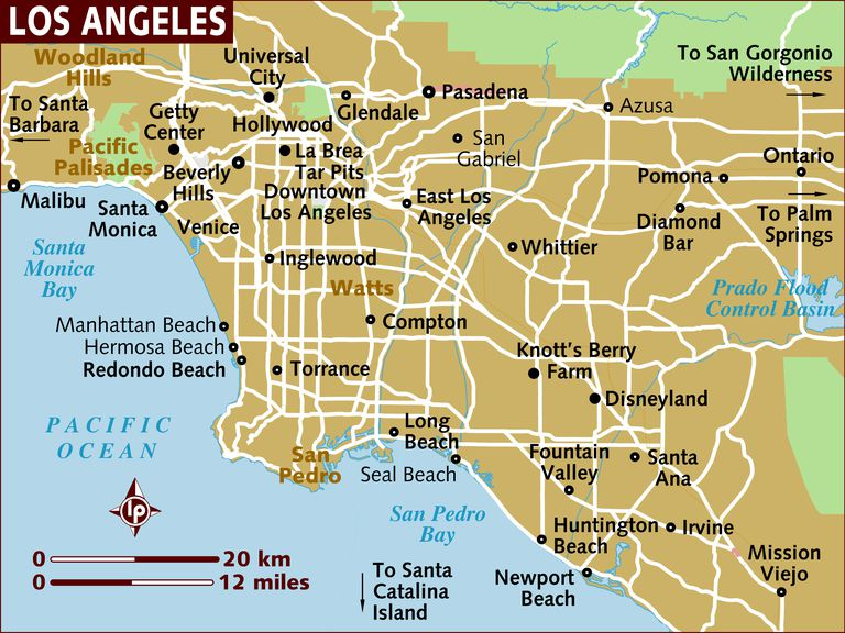 Map of Los Angeles.