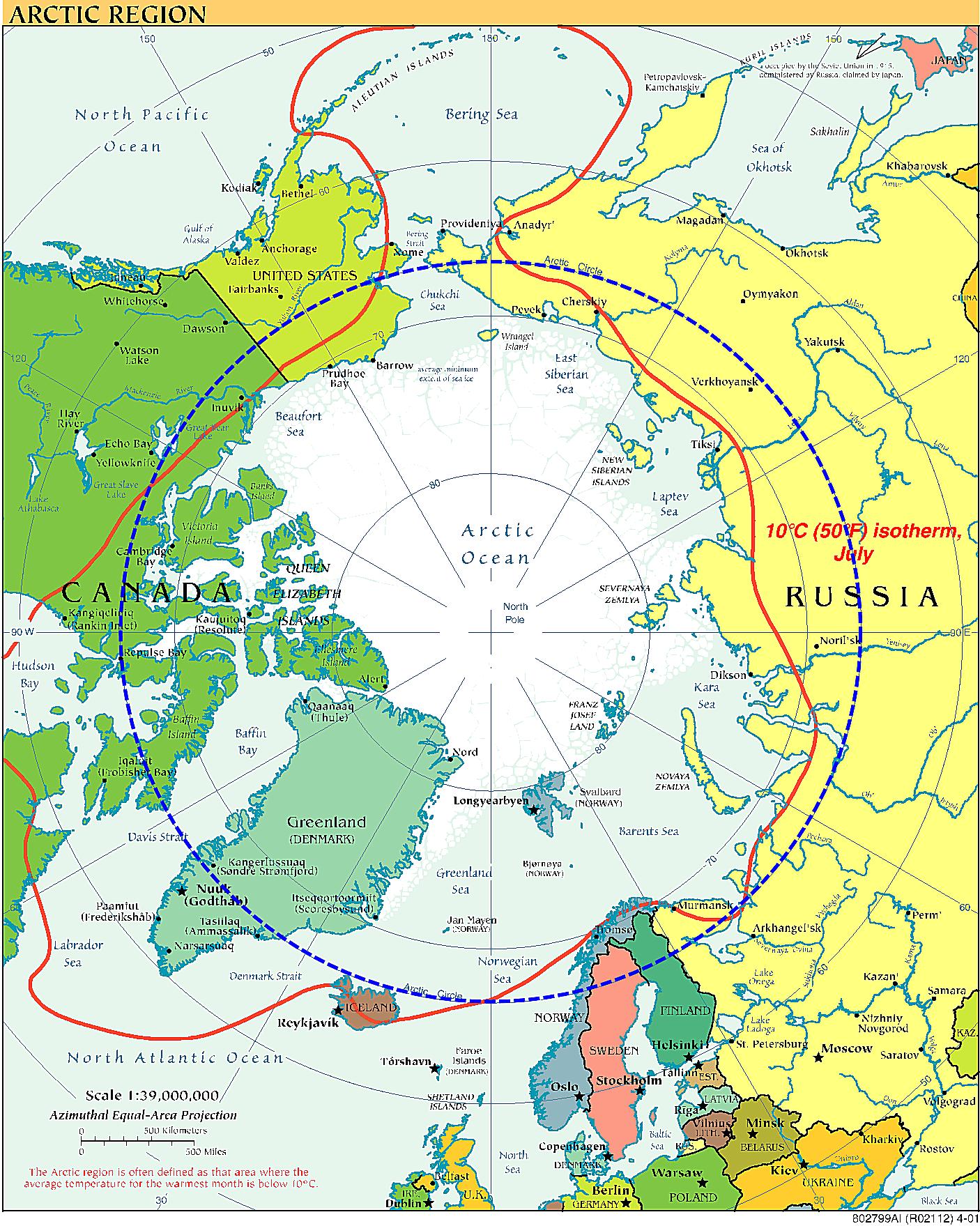 Learn About Where Polar Bears Live - Map of where polar bears live