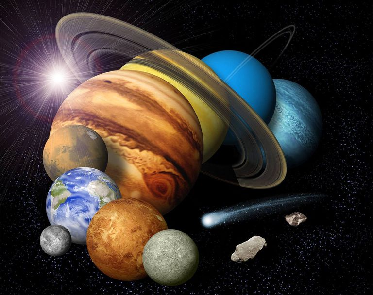The worlds of the solar system explorable with small telescopes.